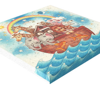 Noah's Ark ~ Gallery Wrapped Canvas