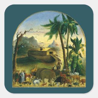 Noahs Ark Hidley Vintage Victorian Religious Art Sticker