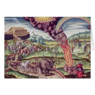 Noah's Ark, illustration from 'Brevis Narratio' Card