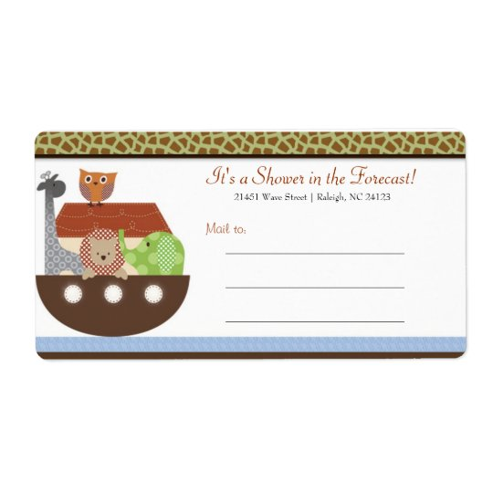 Noah's Ark Mailing Labels