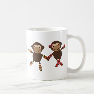 Noah's Ark monkey Couple in love holding hands Coffee Mug