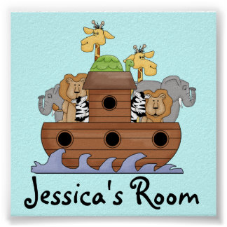Noah's Ark Nursery Name Print