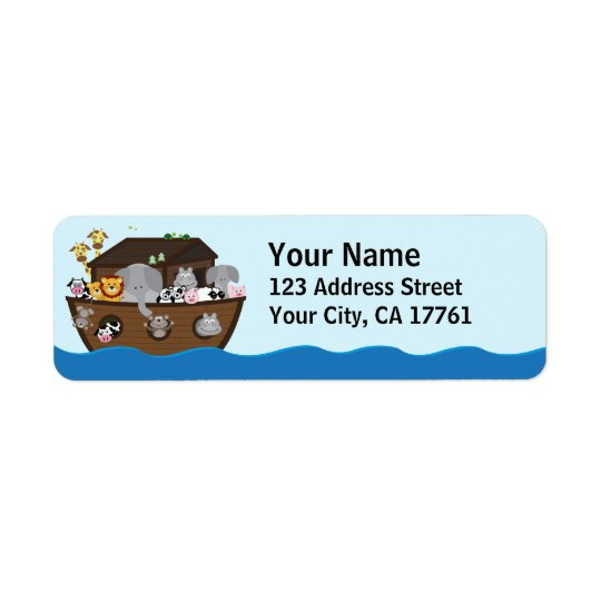 Noah's Ark Ocean Address Labels