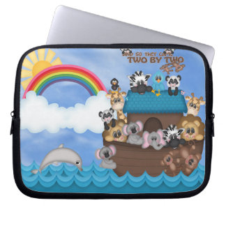 Noahs Ark of Animals Two by Two Bible Great Flood Computer Sleeves