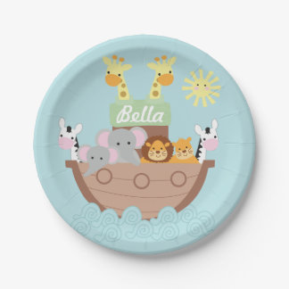 "Noah's Ark Paper Plates 7"" 7 Inch Paper Plate"