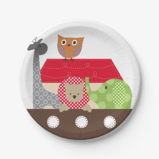 Noah's Ark Paper Plates - 7 inch 7 Inch Paper Plate