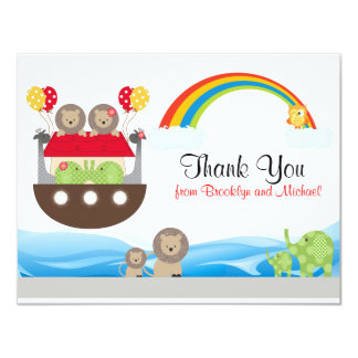 Noah's Ark Thank You Card