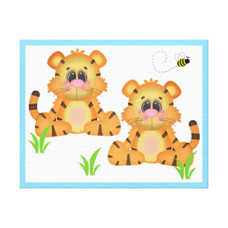 Noahs Ark Tiger Safari Animal Nursery Wall Art