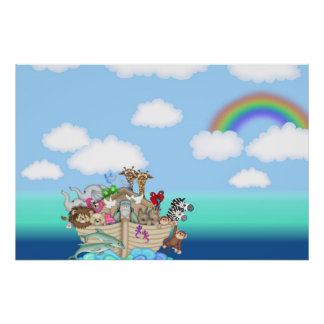 Noahs Ark Wall Mural Poster Baby Nursery Kids Room
