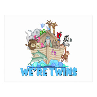 Noah's Ark We're Twins Postcard
