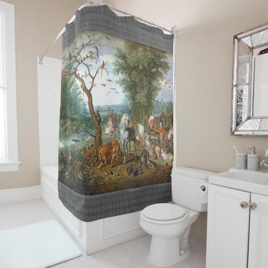 Noahs' Ark Wildlife Animal Bible Shower Curtain