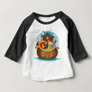 Noah's Ark With Jungle Animals Baby T-Shirt