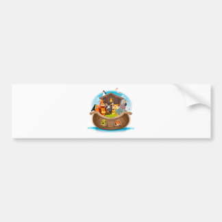 Noah's Ark With Jungle Animals Bumper Sticker
