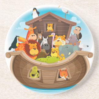 Noah's Ark With Jungle Animals Coaster