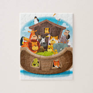 Noah's Ark With Jungle Animals Jigsaw Puzzle