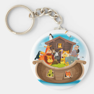 Noah's Ark With Jungle Animals Keychain