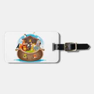 Noah's Ark With Jungle Animals Luggage Tag