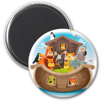 Noah's Ark With Jungle Animals Magnet