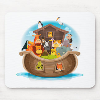 Noah's Ark With Jungle Animals Mouse Pad