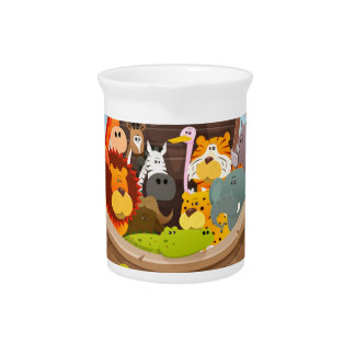 Noah's Ark With Jungle Animals Pitcher