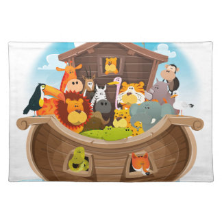 Noah's Ark With Jungle Animals Placemat