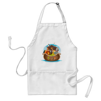 Noah's Ark With Jungle Animals Standard Apron