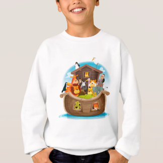 Noah's Ark With Jungle Animals Sweatshirt