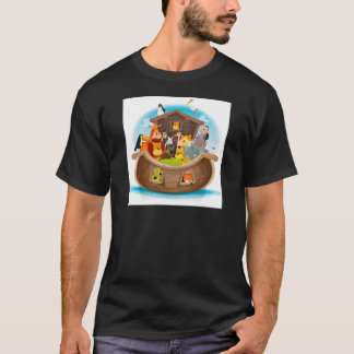 Noah's Ark With Jungle Animals T-Shirt