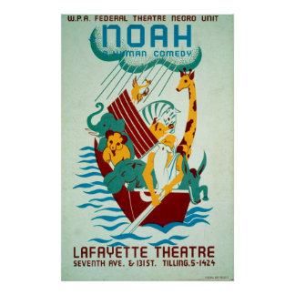 Noahs Ark WPA Federal Theatre Vintage Poster