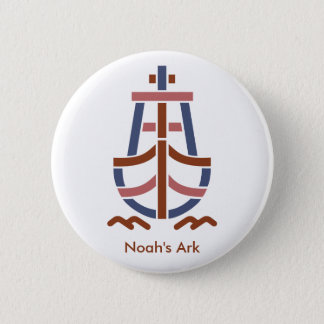 Noah's ArkRetro_Ship_Logo-CL23 2 Inch Round Button