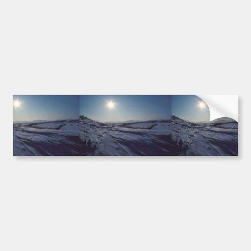 Noatak River Snow Scene Bumper Sticker