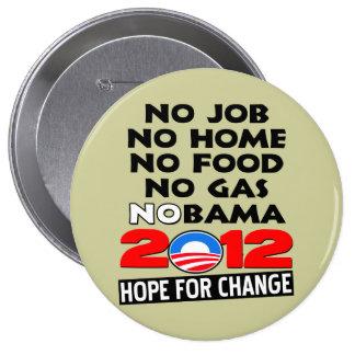 NoBAMA 2012 4 Inch Round Button