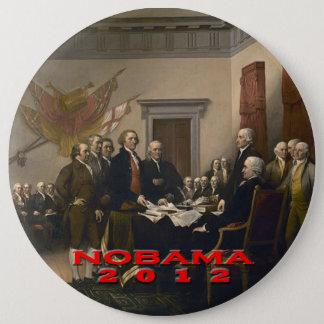 Nobama 2012 6 inch round button