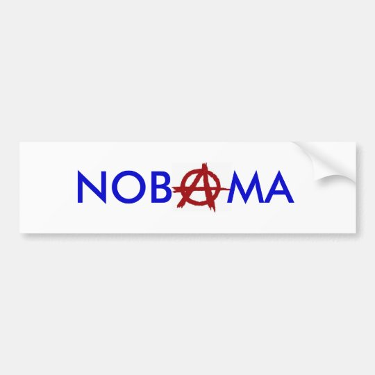 """Nobama"" Anarchy Bumper Sticker"