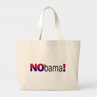 Nobama Anti-Obama Large Tote Bag