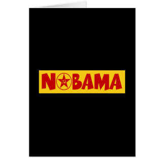 Nobama,communist Obama Card