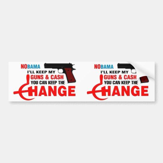 Nobama - Keep The Change! Bumper Sticker