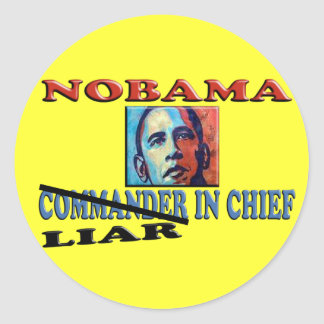 NOBAMA Liar In Chief Round Sticker