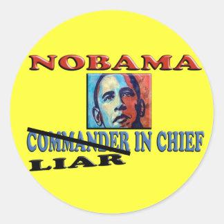 NOBAMA Liar In Chief Round Sticker
