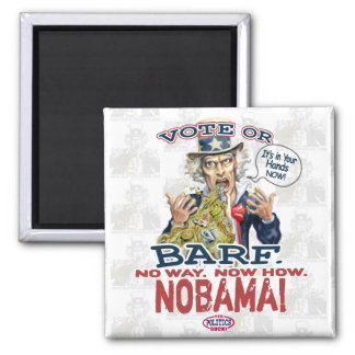 Nobama Vote or Barf Gear Fridge Magnet