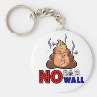 NoBanNoWall No Ban No Wall Protest Immigration Ban Keychain