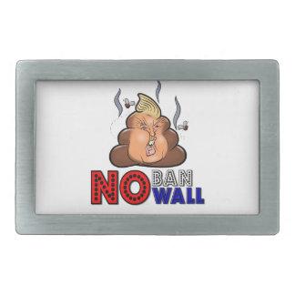 NoBanNoWall No Ban No Wall Protest Immigration Ban Rectangular Belt Buckle