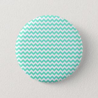 Noble Chevron Mint Gren And White 2 Inch Round Button