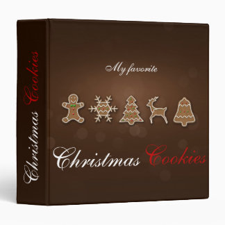 Noble Christmas Gingerbread Cookie Recipes Binder