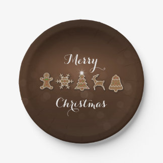 Noble Christmas Gingerbread - Paper Plate
