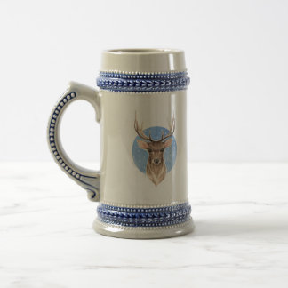 Noble deer beer stein
