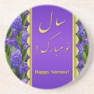 Noble Happy Norooz Hyacinths - Sandstone Coaster