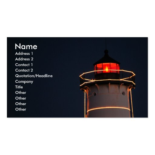 Noble Lighthouse Business Card