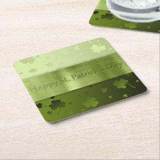 Noble St. Patrick's Day Shamrocks - Paper Coaster