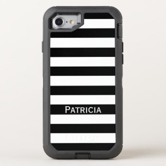 Noble White And Black Stripes. It! OtterBox Defender iPhone 7 Case